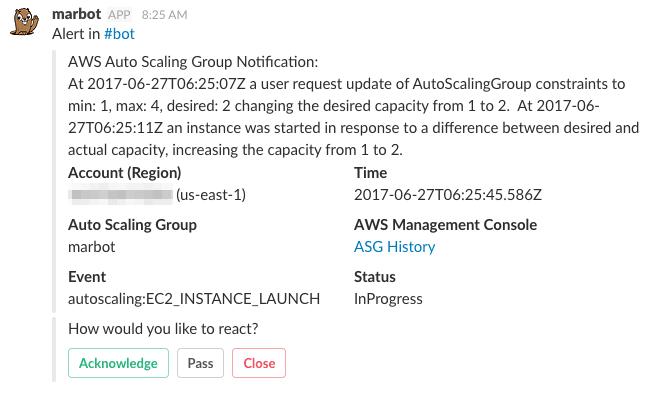 marbot - Setup integration: AWS Auto Scaling Notification